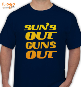 sun out guns out - T-Shirt