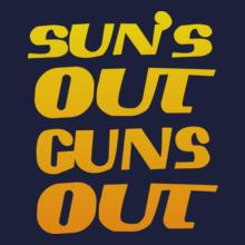 GYM  sun-out-guns-out T-Shirt