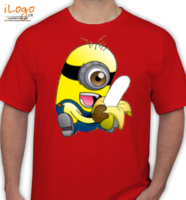 minion with banana - T-Shirt
