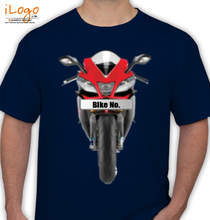 Bike Numbered Red-KTM-Personalised T-Shirt