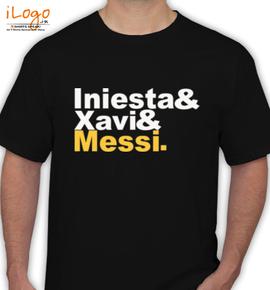 INIESTA % XAVI % MESSI - T-Shirt