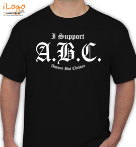 i support abc - T-Shirt