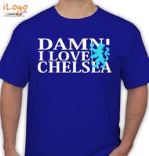 Football DAMN-I-LOVE-CHELSEA T-Shirt