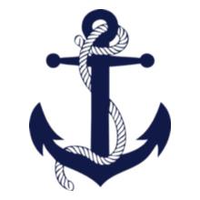 Navy boat-anchor T-Shirt