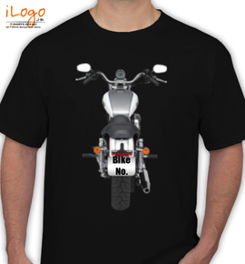 Grey Harley Davidson Personalised - T-Shirt