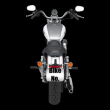 Bike Numbered Grey-Harley-Davidson-Personalised T-Shirt