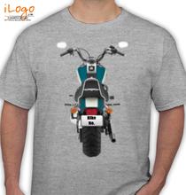 Bike Numbered Blue-big-bike-Personalised T-Shirt