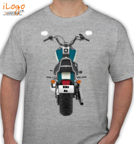 Blue Harley Davidson Personalised - T-Shirt