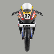 Bike Numbered Blue-KTM-Bike-Personalised T-Shirt