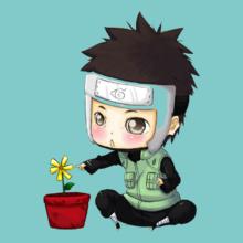 Yamato Naruto chibi-yamato-with-flower-by-erava-copy T-Shirt