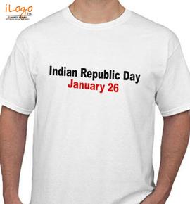 INDIAN REPUBLIC DAY HAPPY - T-Shirt