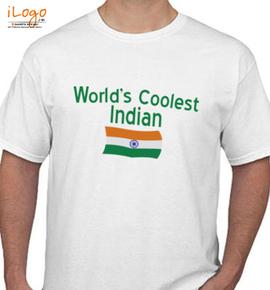 WORLD%S COOLEST INDIAN - T-Shirt