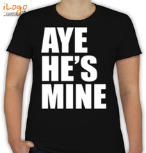 Couple AYE-SHE%S-MINE- T-Shirt