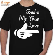 Couple she%s-my-true-love T-Shirt