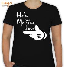 Couple she%s-my-true-love- T-Shirt