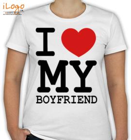I LOVE MY GIRLFRIEND  - T-Shirt [F]