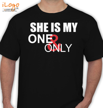 Couple SHE-IS-MY-ONE-ONLY T-Shirt