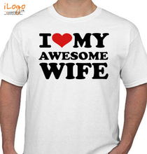 Couple I-LOVE-MY-AWESOME-WIFE T-Shirt