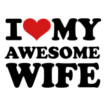 I-LOVE-MY-AWESOME-WIFE T-Shirt