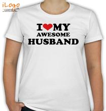 Couple I-LOVE-MY-AWESOME-HUSBAND T-Shirt