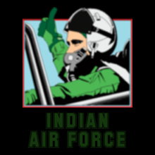 Air Force Indian-Air-force-black T-Shirt