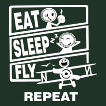 Eat-Sleep-Fly-Repeat T-Shirt