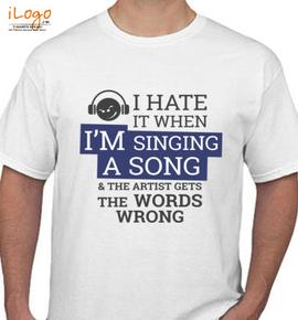 singing - T-Shirt
