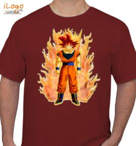 goku fire - T-Shirt