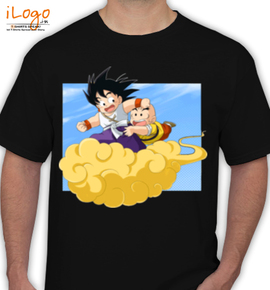 Goku and Krillin on the Flying Nimbus - T-Shirt