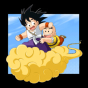 Goku-and-Krillin-on-the-Flying-Nimbus
