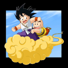 Goku Goku-and-Krillin-on-the-Flying-Nimbus T-Shirt