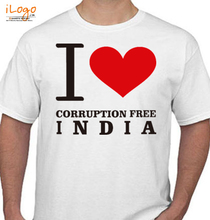 Aam Aadmi Party i-love-corruption-free-india T-Shirt