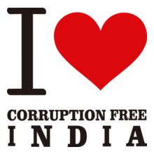 i-love-corruption-free-india T-Shirt
