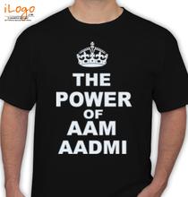 Aam Aadmi Party the-power-of-aam-aadmi T-Shirt