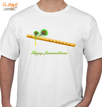 Janmashtami bansuri-nel-fondo-di-janmashtami- T-Shirt