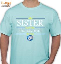 Rakshabandhan Best-Brother-in-world T-Shirt