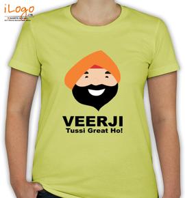 Veerji-Tussi-Great-ho - T-Shirt [F]