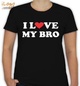 I-love-my-bro - T-Shirt [F]