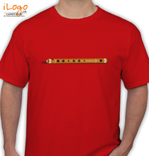 Janmashtami Bamboo%C-Classical%C-Krishna%C-Music T-Shirt