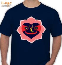 Janmashtami Lord-Krishna-Jagannath-shaped-as-heart T-Shirt