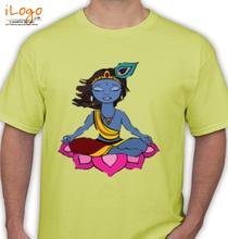 Janmashtami -Hindu-God-Krishna-hand-drawn- T-Shirt