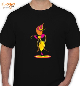 lord-krishna-with-flute- - T-Shirt