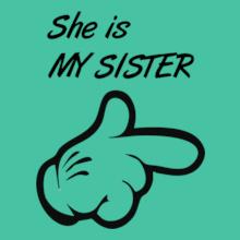 Rakshabandhan She-is-my-SISTER T-Shirt