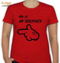Rakshabandhan He-is-my-Brother T-Shirt