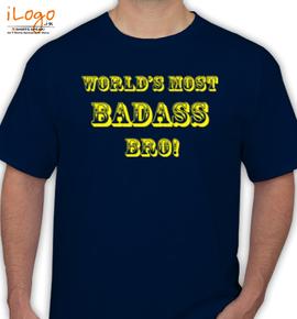 Badass-bro- - T-Shirt