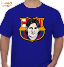 Barcelona Barcelona-Logo-with-messi T-Shirt