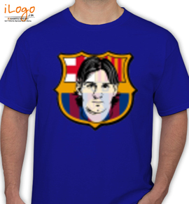 Barcelona Logo with messi - T-Shirt
