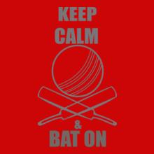Cricket  keep-calm-on-bat T-Shirt