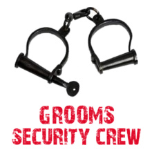 Bachelor Party GROOM-security-crew T-Shirt