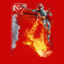 Star Wars ALL boba-fett-with-weapons T-Shirt